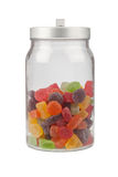 Jar of gummy candy Royalty Free Stock Photos