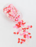 Jar of Heart Sprinkles Stock Photo
