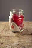 Jar of Hearts stock image