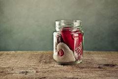 Jar of Hearts Stock Image