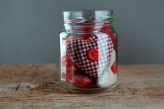 Jar of Hearts Stock Photo