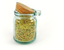 Jar of herbs and spices Stock Image