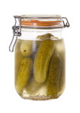 Jar Of Homemade Dill Pickles Isolated Royalty Free Stock Photos