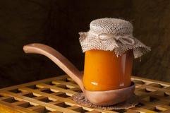 Jar of homemade jam. Royalty Free Stock Photography