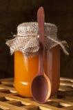 Jar of homemade jam. Stock Images