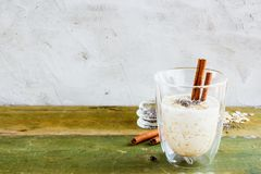 Healthy overnight oats Royalty Free Stock Photography