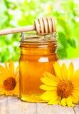 Jar of honey Stock Photos