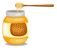 Jar with honey Royalty Free Stock Image