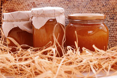 Jar with honey Royalty Free Stock Photography