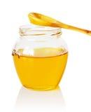 Jar with honey Stock Photo