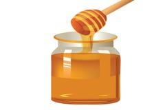 Jar of honey Royalty Free Stock Photography