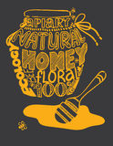 Jar of honey image composed of words Royalty Free Stock Image