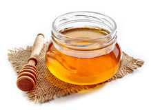 Jar of honey Royalty Free Stock Photos