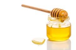 Jar of honey. On white background Stock Photography