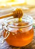 Jar of honey Royalty Free Stock Photo