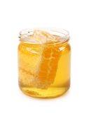 Jar with honeycomb Royalty Free Stock Photo