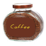 Jar of instant coffee Royalty Free Stock Image
