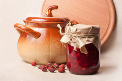 Jar of jam Royalty Free Stock Image