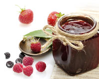 Jar Of A Jam Royalty Free Stock Photos