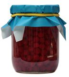 Jar of jam isolated on a white background. Royalty Free Stock Photos