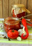 Jar of ketchup, Stock Images