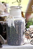 Jar of lavender Royalty Free Stock Images