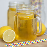 Jar of lemon tea Royalty Free Stock Photography