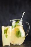Jar of lemonade Stock Photos