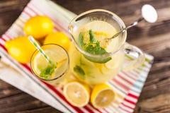 Jar of lemonade Royalty Free Stock Photography