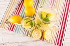 Jar of lemonade Royalty Free Stock Images