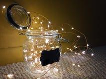 Fairy Lights. A Jar of Lights Stock Images
