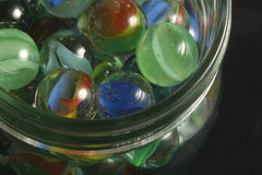 Jar of marbles. A jar of marbles stock image