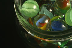 Jar of marbles Royalty Free Stock Photos