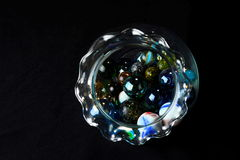 Jar of Marbles 2 Stock Images