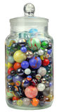Jar of Marbles royalty free stock image