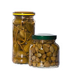 Jar of marinaded Stock Images