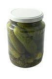 Jar with marinated cucumbers Stock Image