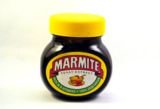 A jar of unopened Marmite royalty free stock photos