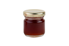 A jar of Maroon jam isolated on white background Royalty Free Stock Photos