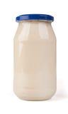 Jar of mayonaise. Royalty Free Stock Photos