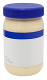 Jar of Mayonaise with blank label Stock Photos