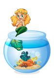 A jar with a mermaid Stock Photos