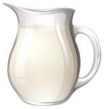 Jar of milk Stock Photos