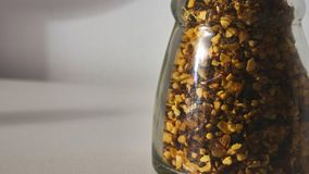 Jar with mix of spices. Scene stock photography