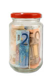 Jar of money Royalty Free Stock Images