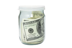 Jar with money. To keep one's money in a bank Stock Photos