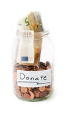 Jar with money from Donation Stock Photos