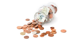 Jar with money Royalty Free Stock Image