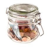 Jar with money Royalty Free Stock Images