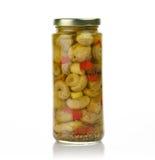 Jar of mushrooms Royalty Free Stock Photo